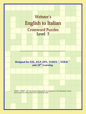 Webster's English to Italian Crossword Puzzles: Level 7 (Paperback)
