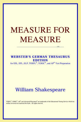 Measure for Measure (Webster's German Thesaurus Edition) (Paperback)