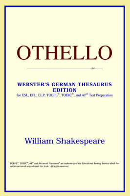 Othello (Webster's German Thesaurus Edition) (Paperback)
