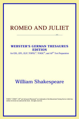 Romeo and Juliet (Webster's German Thesaurus Edition) (Paperback)