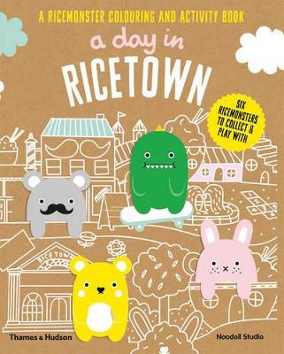 A Day in Ricetown: A Ricemonster Colouring and Activity Book (Paperback)
