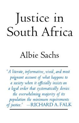 Justice in South Africa - Perspectives on Southern Africa 12 (Paperback)