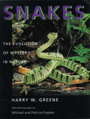 Snakes: The Evolution of Mystery in Nature (Paperback)