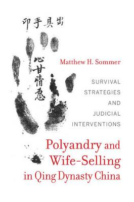 Polyandry and Wife-Selling in Qing Dynasty China: Survival Strategies and Judicial Interventions (Hardback)