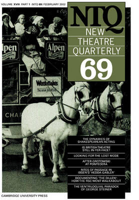 New Theatre Quarterly 69: Volume 18, Part 1 - New Theatre Quarterly 69 (Paperback)
