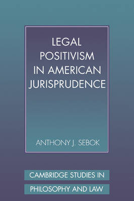 Legal Positivism in American Jurisprudence - Cambridge Studies in Philosophy and Law (Paperback)