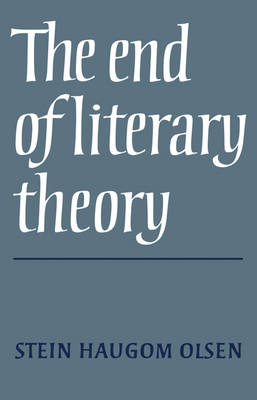 The End of Literary Theory (Paperback)