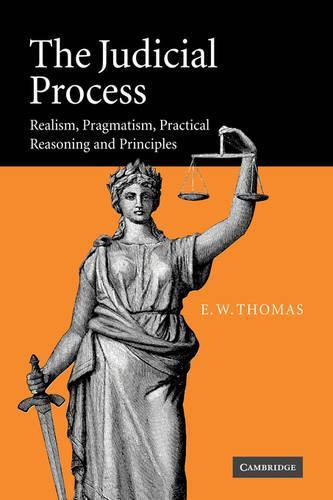 The Judicial Process: Realism, Pragmatism, Practical Reasoning and Principles (Paperback)