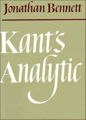 Kant's Analytic (Paperback)