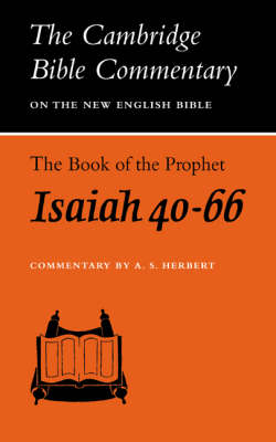 : The Book of the Prophet Isaiah, Chapters 40-66 - Cambridge Bible Commentaries on the Old Testament (Paperback)