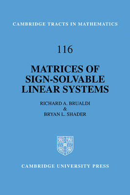 Matrices of Sign-Solvable Linear Systems - Cambridge Tracts in Mathematics (Paperback)
