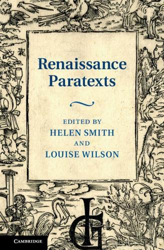 Renaissance Paratexts (Hardback)