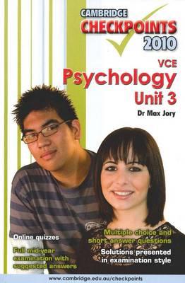 Cambridge Checkpoints VCE Psychology Unit 3 2010 - Cambridge Checkpoints (Paperback)