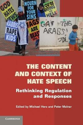 The Content and Context of Hate Speech: Rethinking Regulation and Responses (Paperback)