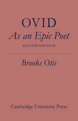 Ovid As An Epic Poet (Paperback)