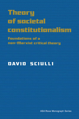 Theory of Societal Constitutionalism: Foundations of a Non-Marxist Critical Theory - American Sociological Association Rose Monographs (Paperback)
