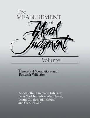 The Measurement of Moral Judgment 2 Volume Set