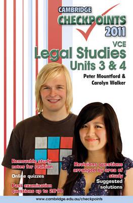 Cambridge Checkpoints VCE Legal Studies Units 3 and 4 2011 - Cambridge Checkpoints (Paperback)
