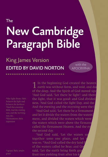 New Cambridge Paragraph Bible with Apocrypha KJ595:TA Black Calfskin: Personal size (Leather / fine binding)
