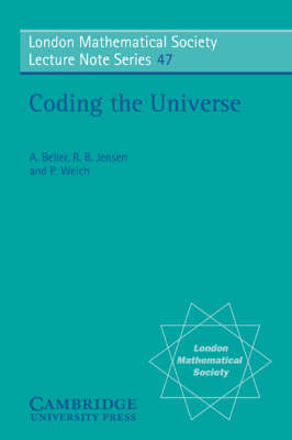 London Mathematical Society Lecture Note Series: Coding the Universe Series Number 47 (Paperback)