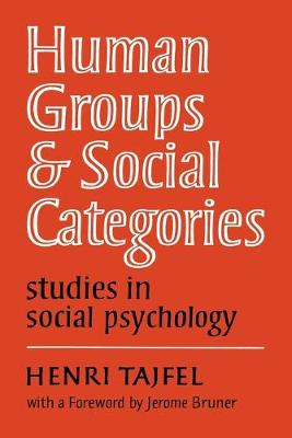 Human Groups and Social Categories: Studies in Social Psychology (Paperback)