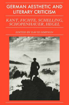 German Aesthetic Literary Criticism (Paperback)