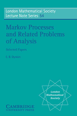 Markov Processes and Related Problems of Analysis - London Mathematical Society Lecture Note Series 54 (Paperback)