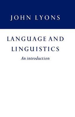 Language and Linguistics (Paperback)