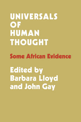 Universals of Human Thought: Some African Evidence (Paperback)