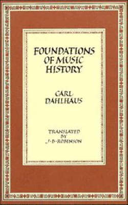 Foundations of Music History (Paperback)
