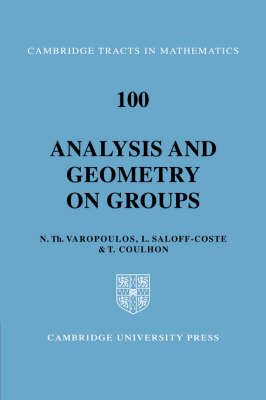 Analysis and Geometry on Groups - Cambridge Tracts in Mathematics 100 (Hardback)