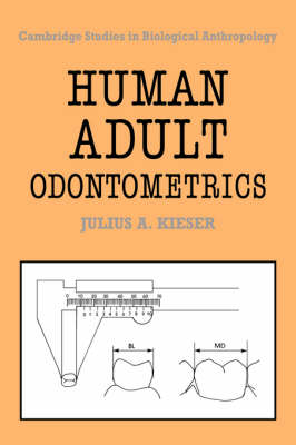 Human Adult Odontometrics: The Study of Variation in Adult Tooth Size - Cambridge Studies in Biological and Evolutionary Anthropology 4 (Hardback)
