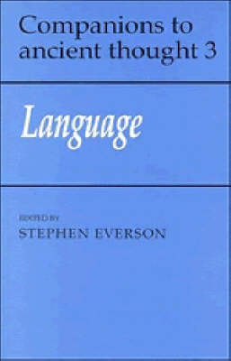 Companions to Ancient Thought: Language Series Number 3 (Paperback)