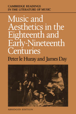 Cambridge Readings in the Literature of Music: Music and Aesthetics in the Eighteenth and Early Nineteenth Centuries (Paperback)