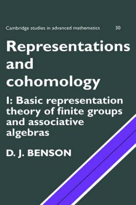 Representations and Cohomology: Volume 1, Basic Representation Theory of Finite Groups and Associative Algebras - Cambridge Studies in Advanced Mathematics 30 (Hardback)
