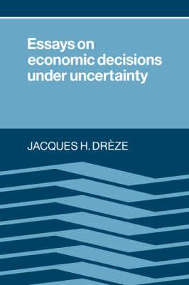 Essays on Economic Decisions under Uncertainty (Paperback)