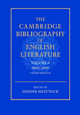 Cover The The Cambridge Bibliography of English Literature 3 The Cambridge Bibliography of English Literature: Series Number 4: 1800-1900 Volume 4