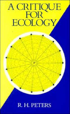 A Critique for Ecology (Paperback)