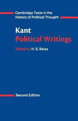 Kant: Political Writings - Cambridge Texts in the History of Political Thought (Paperback)