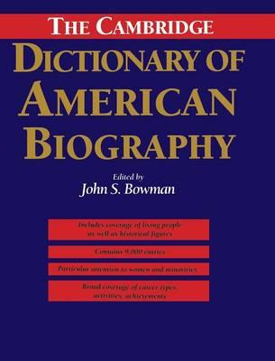 The Cambridge Dictionary of American Biography (Hardback)