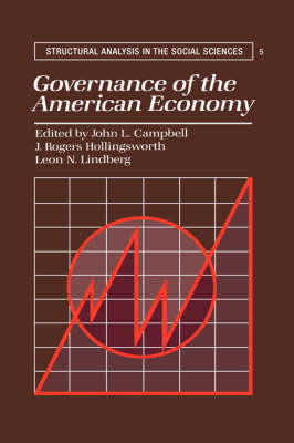 Structural Analysis in the Social Sciences: Governance of the American Economy Series Number 5 (Paperback)