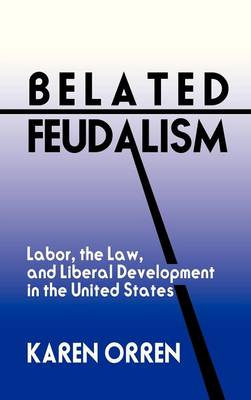 Belated Feudalism: Labor, the Law, and Liberal Development in the United States (Hardback)