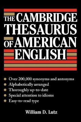 The Cambridge Thesaurus of American English (Hardback)