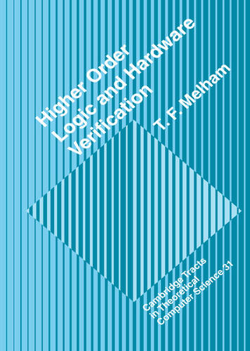 Higher Order Logic and Hardware Verification - Cambridge Tracts in Theoretical Computer Science 31 (Hardback)