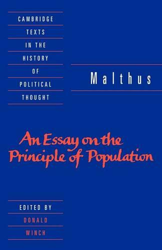 Malthus: 'An Essay on the Principle of Population' - Cambridge Texts in the History of Political Thought (Paperback)