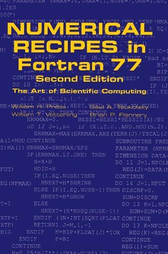 Numerical Recipes in FORTRAN 77: Volume 1, Volume 1 of Fortran Numerical Recipes: The Art of Scientific Computing (Hardback)