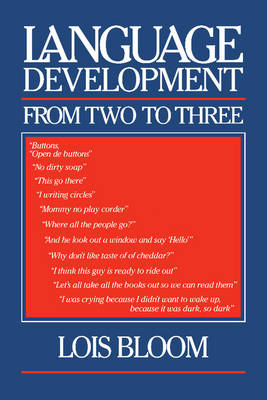 Language Development from Two to Three (Paperback)