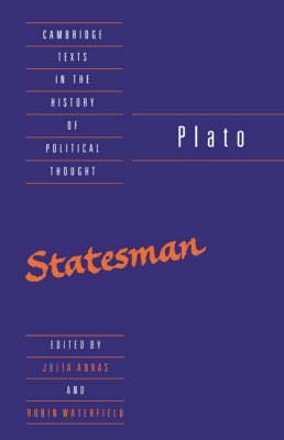 Plato: The Statesman - Cambridge Texts in the History of Political Thought (Hardback)