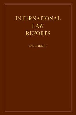 International Law Reports 160 Volume Hardback Set: Volume 39 - International Law Reports (Hardback)