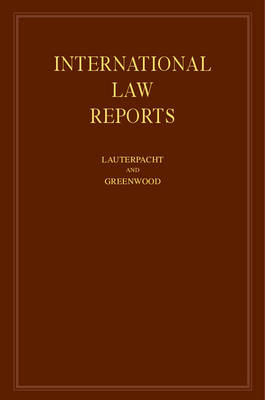 International Law Reports - International Law Reports 160 Volume Hardback Set Volume 84 (Hardback)